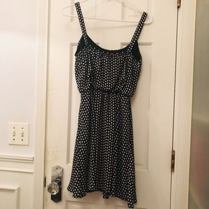 BeBop Dresses - BeBop Black Diamond Polka Dot Mini Dress!